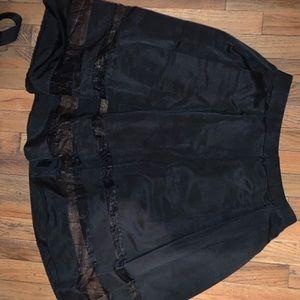 Skirt w/ Mesh Panelling